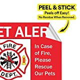 Pet Alert Safety Fire Rescue Sticker - Save Our