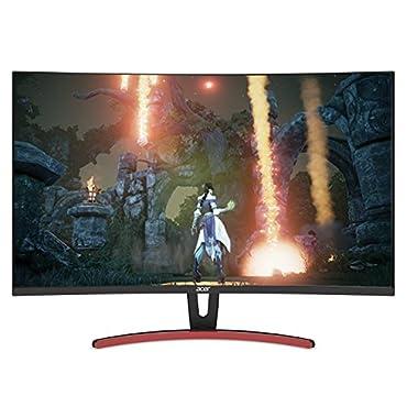 Acer ED323QUR Abidpx 31.5 WQHD (2560 x 1440) Curved 1800R VA Gaming Monitor with AMD Radeon FREESYNC Technology 4ms | 144Hz Refresh Rate | Display Port, HDMI Port & DVI Port