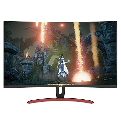 Acer ED323QUR Abidpx 31.5″ WQHD (2560 x 1440) Curved 1800R VA Gaming Monitor with AMD Radeon FREESYNC Technology - 4ms | 144Hz Refresh Rate | Display Port, HDMI Port & DVI Port
