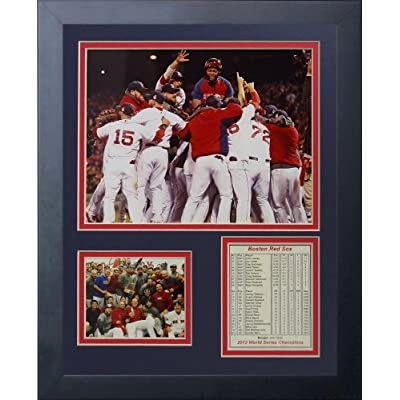 """Legends Never Die """"2013 Boston Red Sox World Series Champions"""" Huddle Framed Photo Collage, 11 x 14-Inch by Legends Never Die"""