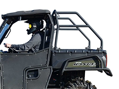 (SuperATV Sport Roll Bar for Polaris Ranger Full Size 500/700 / 800/800 Crew - Wrinkle Black)