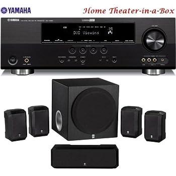 Yamaha 3D-Ready 500 Watt 5.1-Channel Home Theater Receiver With Yamaha 5.1-Channel Home Theater Speaker System + 50 feet 16 Gauge Speaker Wire (Discontinued by Manufacturer)