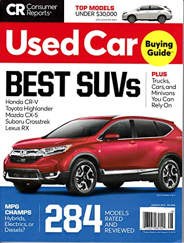Consumer Reports Used Car Magazine *+ FREE