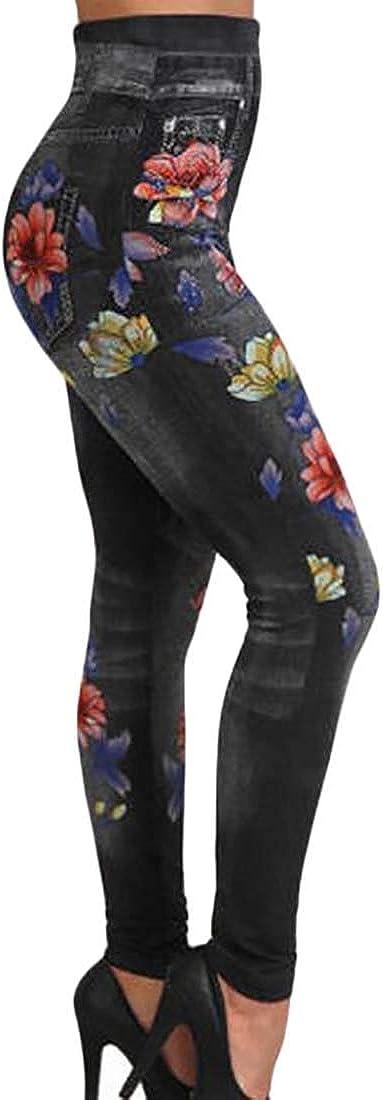 dahuo - Mallas de algodón para Mujer, diseño de Flores, Cintura ...