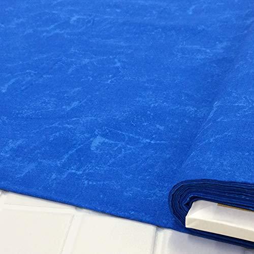 ハワイアン 生地 ラスター むら染め (168 青)布 布地 手芸 綿100%のファブリック。ハワイアンキルトやパッチワークをはじめ、バッグ、雑貨、カーテンやクッションカバーなどのインテリアなどにオススメです。【1m単位】