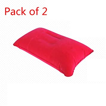 Amazon.com: 2 unidades almohada de viaje inflable Almohada ...
