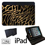 Animal Print Leopard Apple iPad 2/3/4 Fabric Notebook Case / Cover Great Gift Idea