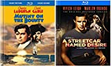 Mutiny on the Bounty (1935) Blu Ray Book Edition + A Streetcar Named Desire 2 Pack Movie Action Drama Double Feature Clark Gable Marlon Brando Set
