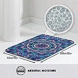 Bathroom Rugs Bath Mat Door Mats Purple Mandala