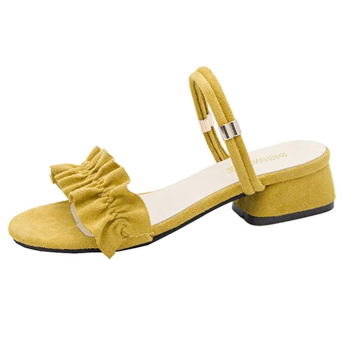 JiaMeng Sandalias de Verano para Mujer Mocasines de Moda Zapatillas Casuales Zapatos Sandalias Romanas Mujer Sandalias Mujer Verano con Plataforma Chanclas: ...