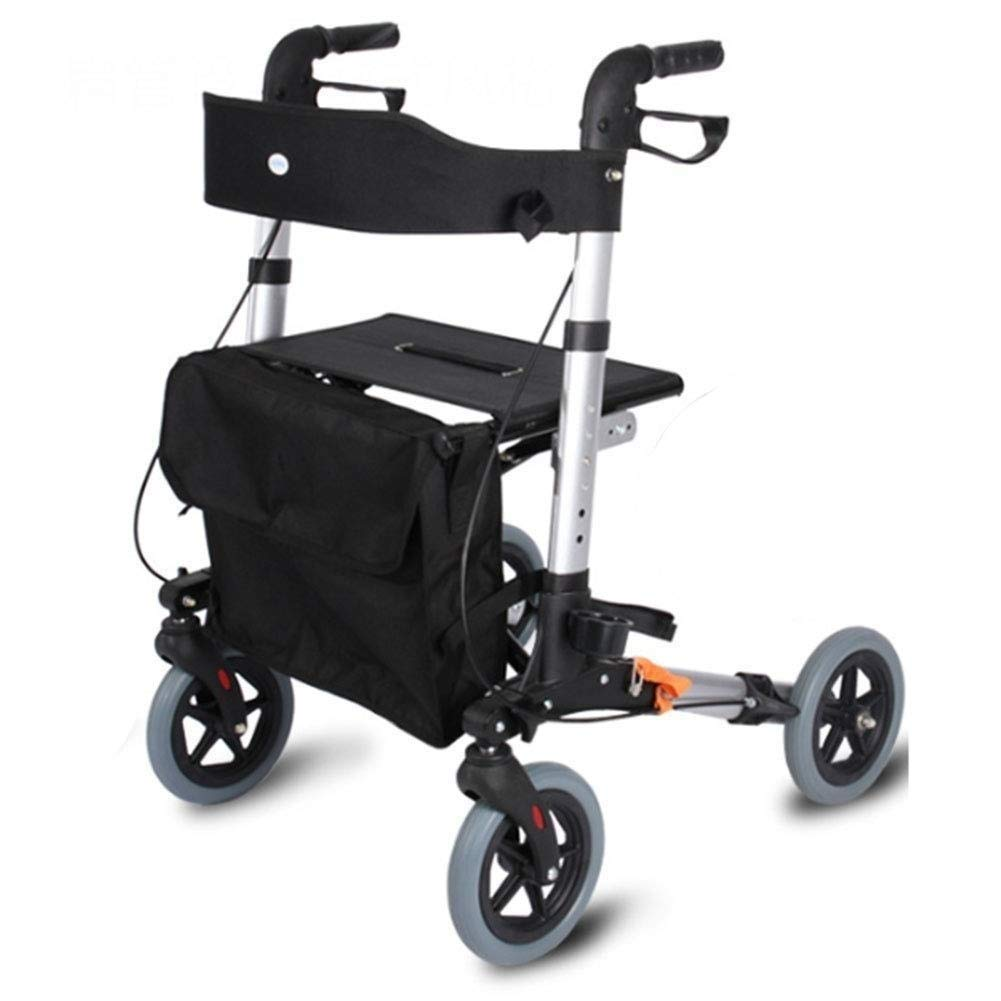Heavy Duty Rollator Walker with Seat,Adjustable Handle Height Includes Basket with Lockable Brakes Seniors Auxiliary Walking Safety Walker by YL WALKER