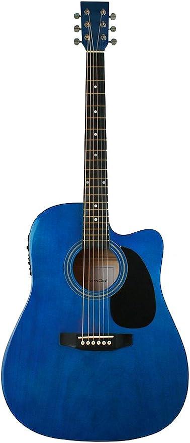 Leboncat 7A40 - Guitarra electro-acústica LFG-414CE, color azul ...