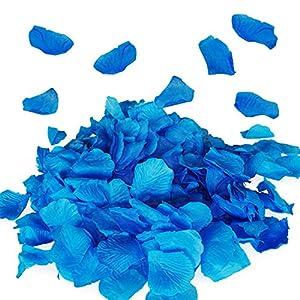 Royal Imports Blue Silk Flower Artificial Rose Petals for Wedding Aisle, Party Favor & Table, Vase, Home Decoration, 1000 PCS 114