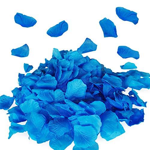 (Royal Imports Blue Silk Flower Artificial Rose Petals for Wedding Aisle, Party Favor & Table, Vase, Home Decoration, 1000 PCS)