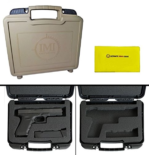 IMI Defense ZPCL Tan Large Pistol Case with Magazine Storage