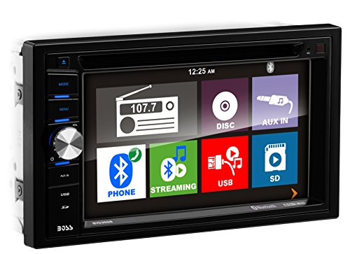Kia Spectra Radio - Boss Audio Systems BV9366B Double Din, Touchscreen, Bluetooth, DVD CD MP3 USB SD AM FM Car Stereo, 6.2 Inch Digital LCD Monitor, Wireless Remote