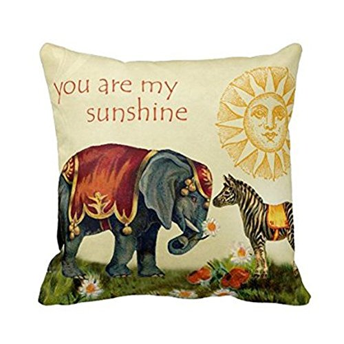 CoolDream You are My Sunshine Square Throw Pillow Case Custo