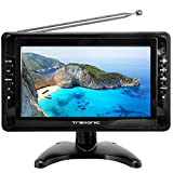 Trexonic Portable Ultra Lightweight Rechargeable Widescreen 10'' LCD TV with SD, USB, Headphone Jack, AV Inputs and Detachable Antenna