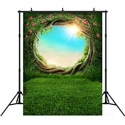 Magic Spring Forest Backdrops for Photography Enchanted Dark Theme Birthday Party Decoration 5x7ft Vinyl Background Photo Booth -