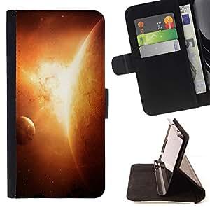 Momo Phone Case / Flip Funda de Cuero Case Cover - Apocalypse Sun Planet Solar System Arte Tierra - HTC One M7