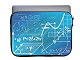 Geometry Blueprints 13x10 inch Neoprene Zippered Laptop Sleeve Bag by Moonlight Printing for Macbook or any other Laptop
