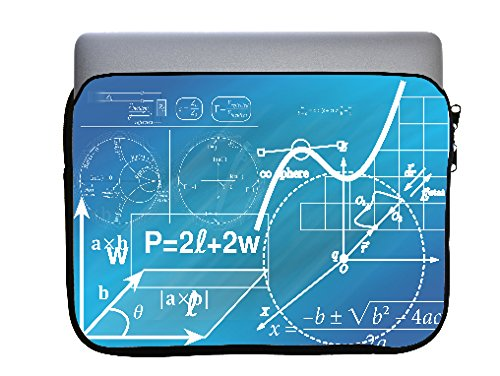 Geometry Blueprints 13x10 inch Neoprene Zippered Laptop Sleeve Bag by Moonlight Printing for Macbook or any other Laptop by Moonlight Printing