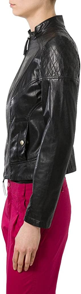 New Womens Leather Slim Fit Genuine Lambskin Biker Jacket LTW081