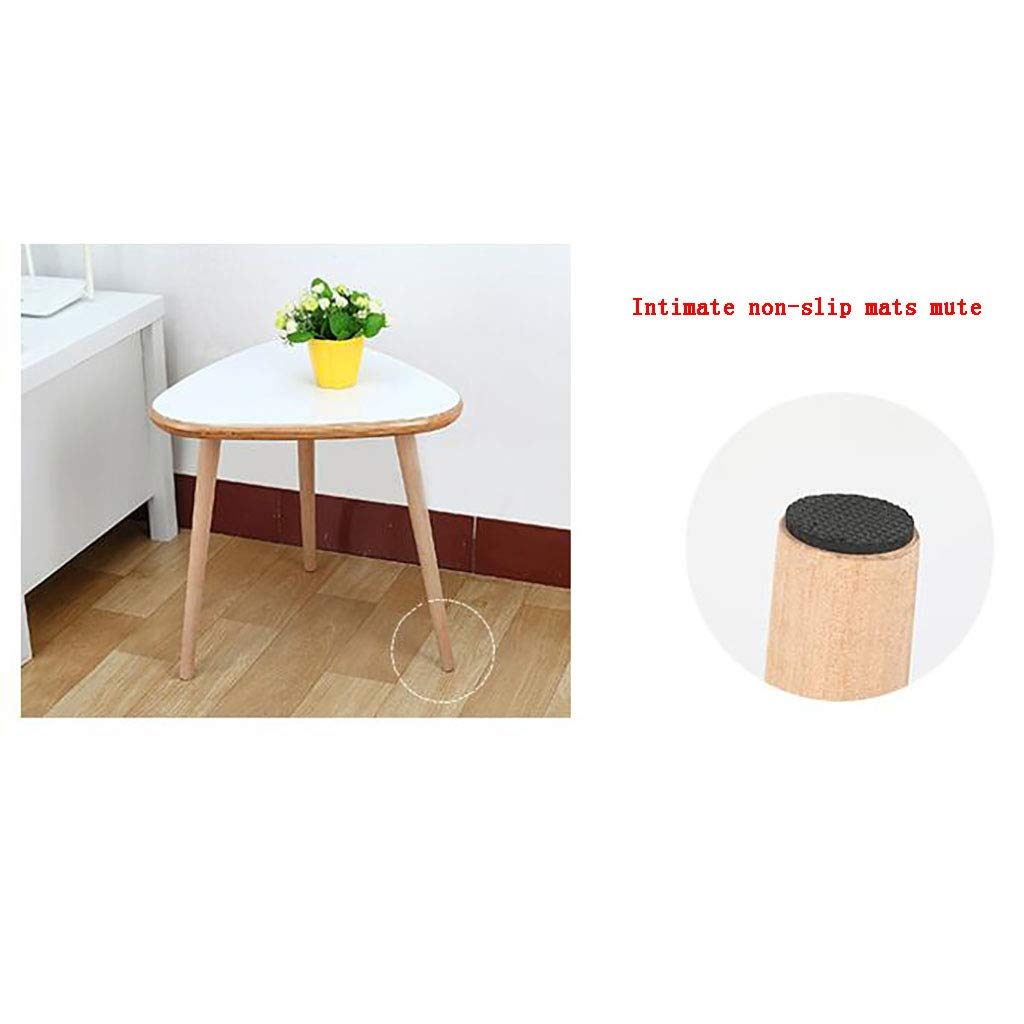 Amazon.com: Mesa de té de madera maciza con forma de pie ...