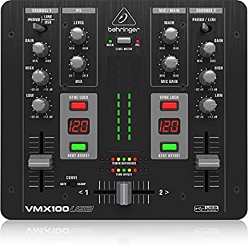 behringer vmx100 2 channel dj mixer with beat counter musical instruments. Black Bedroom Furniture Sets. Home Design Ideas