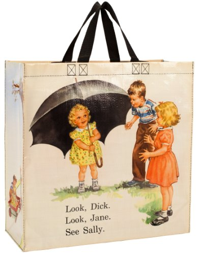 Blue Q Dick and Jane Umbrella Shopper