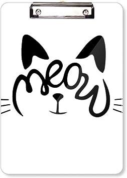 Im Perfect Slogan Colorful Cat Animal Clipboard Folder Writing Pad Backing Plate A4