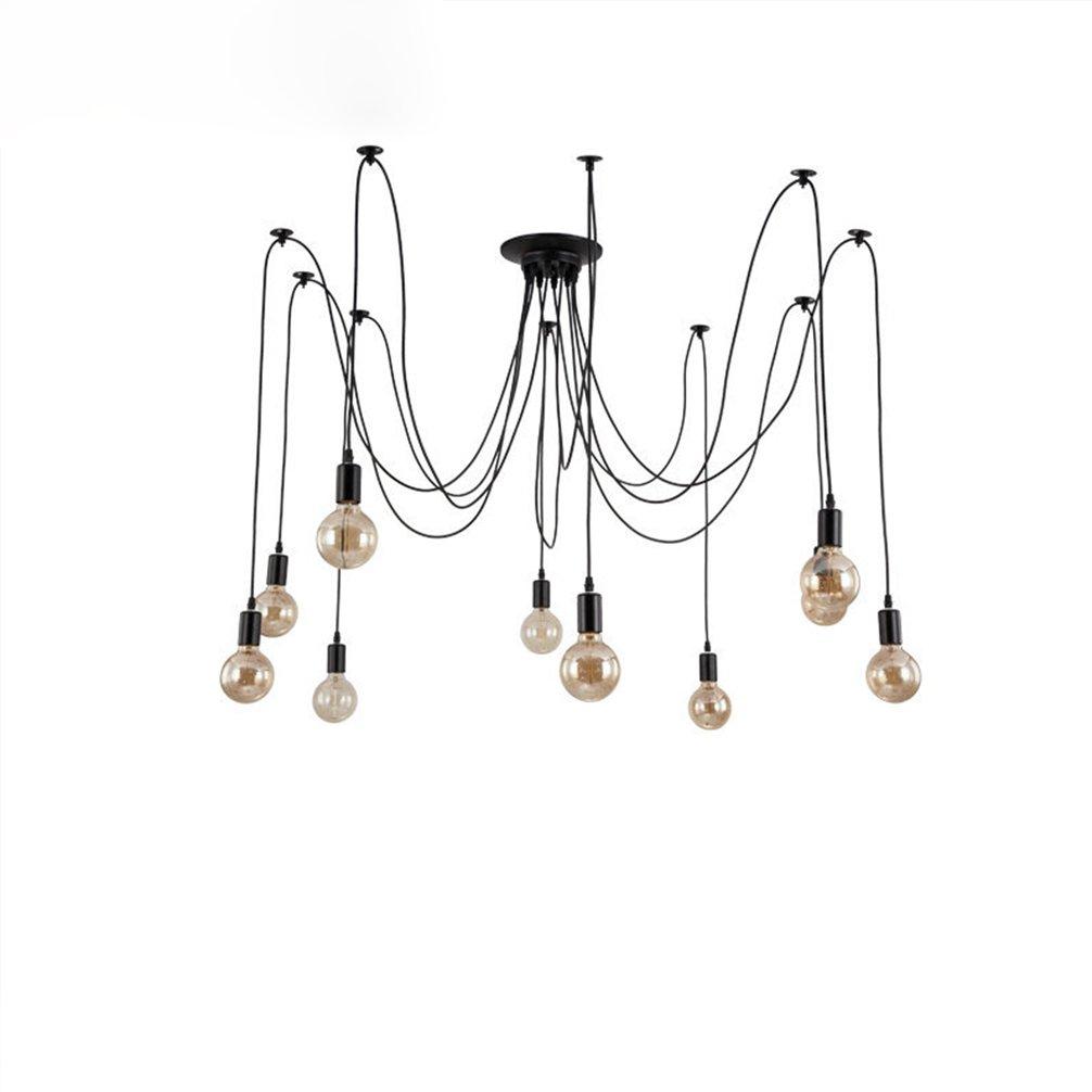 Moderne Kreative Pendelleuchte Schwarzer Metall LED Elegant 10 Kopf Licht  Spinnennetz Hängeleuchte Für Schlafzimmer Bar Esszimmer Haus Pendellampe  Ø240 Mode ...