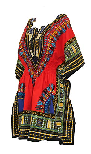 NF Dashiki Top with Elastic Waist#1101 (Maroon, One -