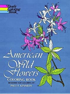 American Wild Flowers Coloring Book Dover Nature