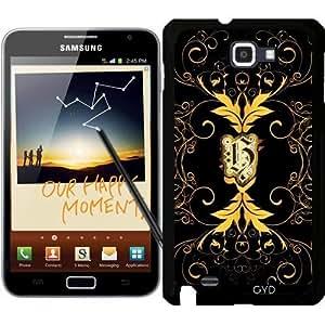 Funda para Samsung Galaxy Note GT-N7000 (I9220) - Diseño Del Monograma by nicky2342