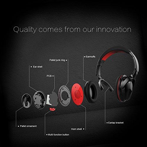 Ausdom M04S Auriculares Inalámbricos de Diadema NFC (Bluetooth 4.0 EDR, Micrófono Incorporado, 3.5mm Audio, para IOS Android Smartphone Pad Tableta Pc), ...
