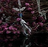 FRCOLT Women Real Dandelion Wish Glass Bottle