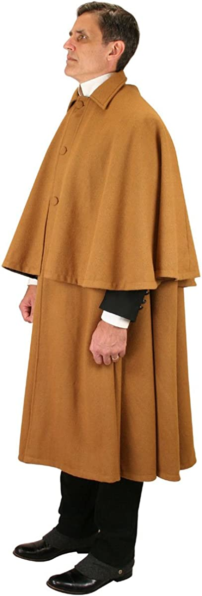 Historical Emporium Men's 100% Wool Inverness Dress Cape