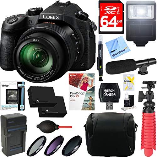 Panasonic LUMIX FZ1000 4K QFHD/HD 20.1MP 16X Long Zoom Black Digital Camera...