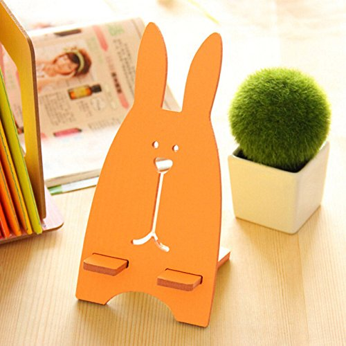 Maxade(TM) Cute Mobile Phone Holders For Desk Detachable Phone Storage Racks Smartphones Tablets Stand[ orange ] ()