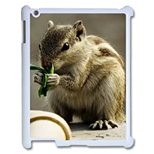 3D IPad 2,3,4 2D Cases, Indian Palm Squirrel Protector with Design Cases for IPad 2,3,4 2D {White}
