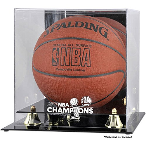 Golden State Warriors 2017 NBA Champions Basketball Display Case by Mounted Memories