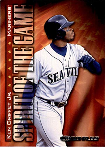 1998 Donruss #386 Ken Griffey Jr. Spirit of the Game HOF SEATTLE MARINERS (194MP)