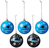 Carolina Panthers 2016 5 Pack Shatterproof Ball Ornament Set