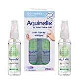 Aquinelle Toilet Tissue Mist Gift Set, Eco-Friendly & Non-Clogging Alternative to Flushable Wipes Simply Spray On Any Folded Toilet Paper (2 Pack Rain Forest 3.25 oz)