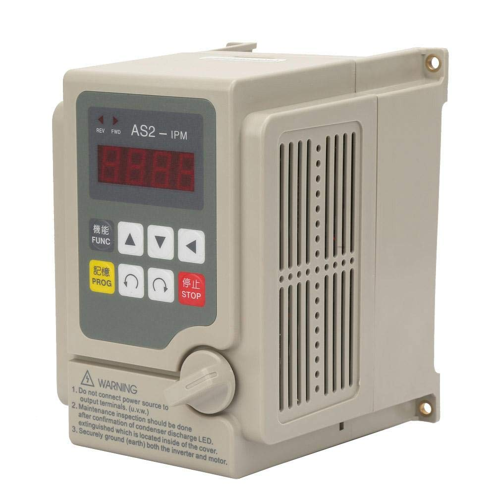 Frequency Converter Inverter, Single Phase Input/3 Phase Output AC 220V Variable Frequency Converter Inverter for 1.5KW Motor by Zouminy