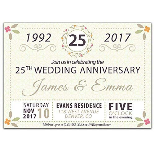 - 25th Wedding Anniversary Party Invitations - Any Year