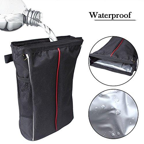 Follicomfy Car Waterproof Litter Bag Auto Seat Back Storage Vehicle Trash Garbage Rubbish Container Bin Headrest Sundries Wrap
