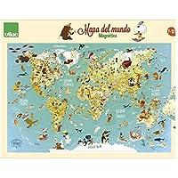 Vilac Mapa del Mundo magnético, 76x50x1 (2720S)