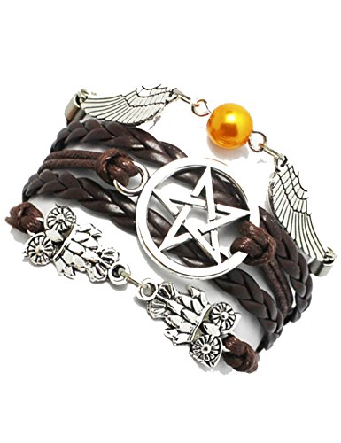 Bracelet, Angel Wings, Owls, Pagan and Wiccan, Supernatural, Star Bracelet,